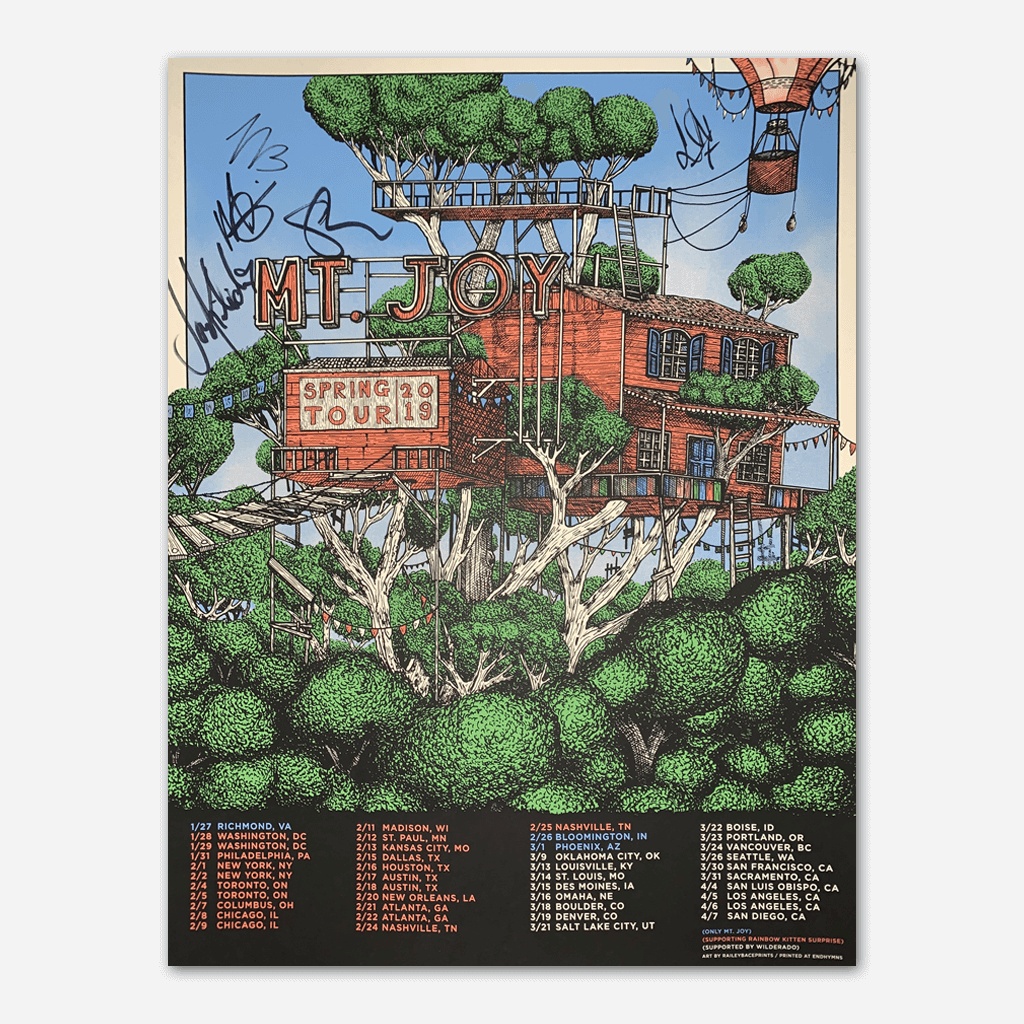 2019 Signed Spring Tour Poster