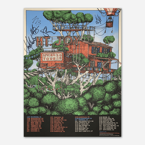 Signed 2019 Spring Tour Poster by Mt. Joy for sale on hellomerch.com