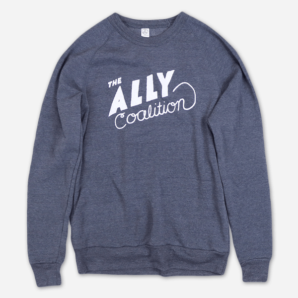 Rachel Eco Navy Champ Pullover by The Ally Coalition for sale on hellomerch.com