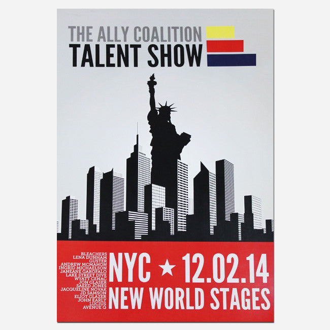 "TAC Talent Show NYC 16"" x 11"" Poster"