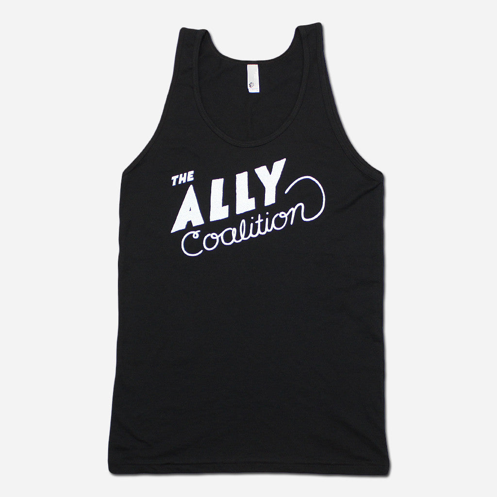 Rachel Black Poly-Cotton Tank - The Ally Coalition - Hello Merch