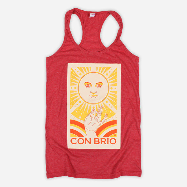 Sun Women's Red Tank Top by Con Brio for sale on hellomerch.com