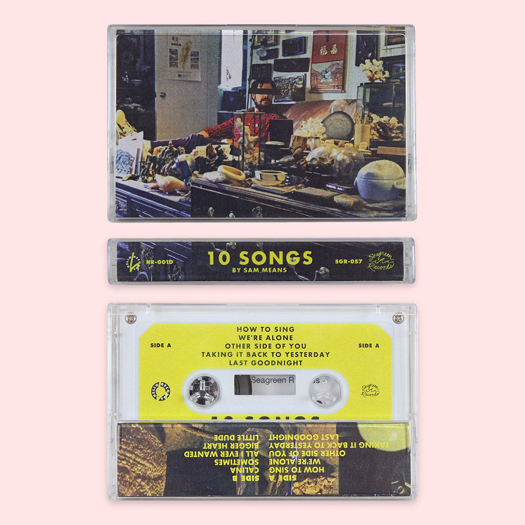 10 Songs Cassette Tape - Sam Means - Hello Merch