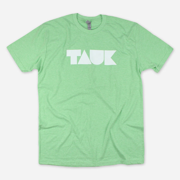 Logo Apple Green Poly-Cotton T-Shirt by TAUK for sale on hellomerch.com