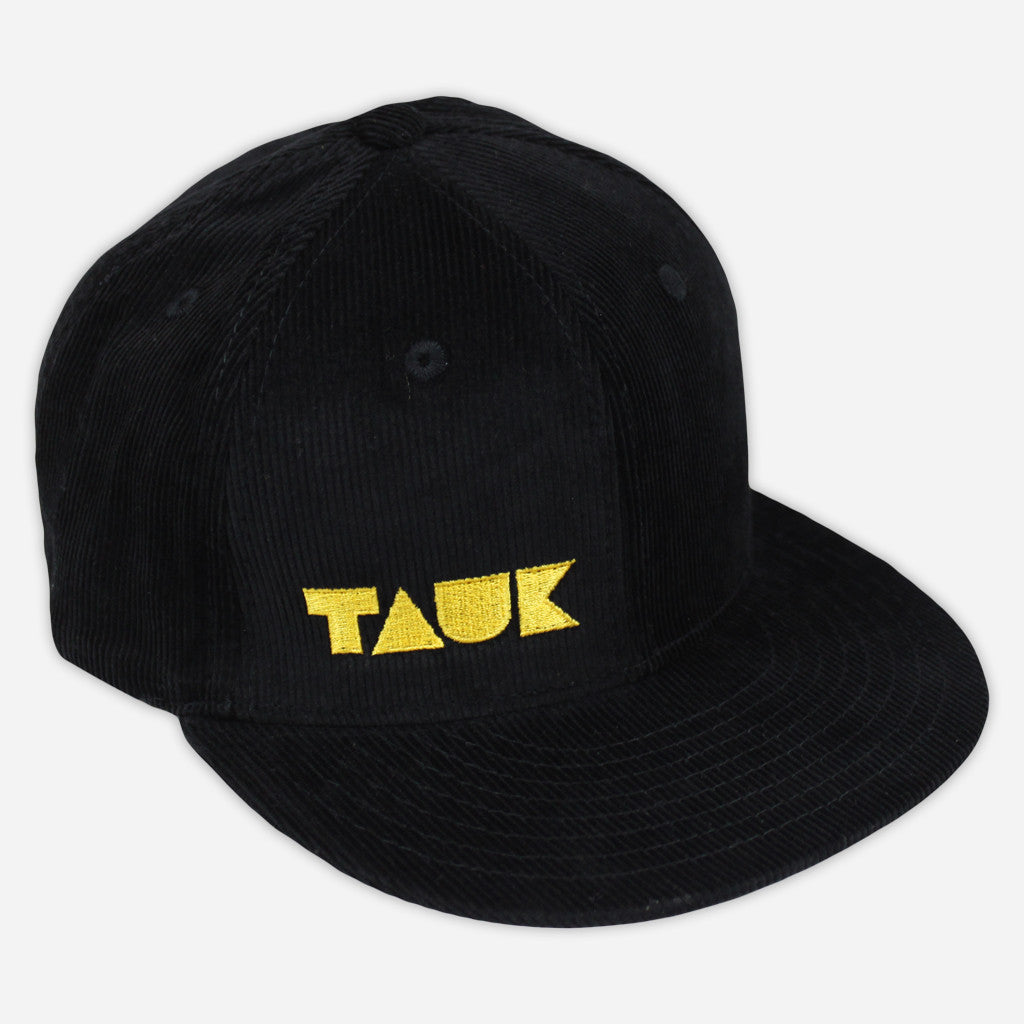Headroom Logo Black and Yellow Decky Snapback Hat - TAUK - Hello Merch
