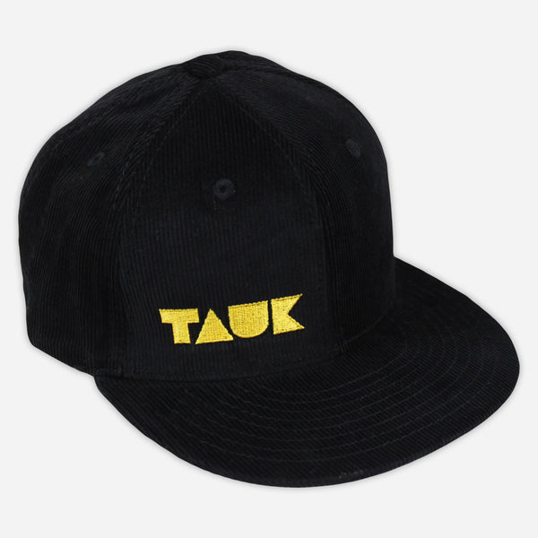 Headroom Logo Black and Yellow Decky Snapback Hat by TAUK for sale on hellomerch.com
