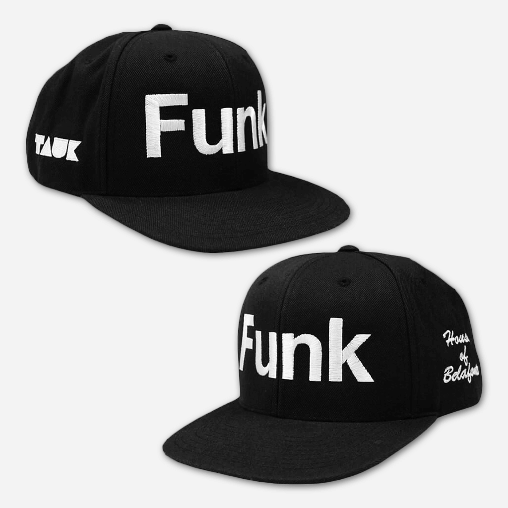 Funk Black and White Snapback Hat