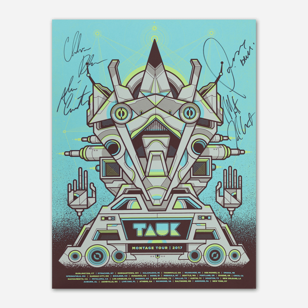 "Signed ""Montage"" 2017 Tour Poster - TAUK - Hello Merch"