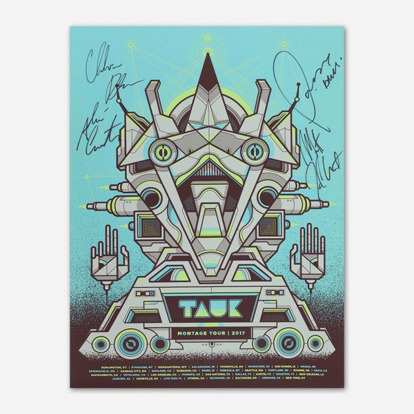 "Signed ""Montage"" 2017 Tour Poster by TAUK for sale on hellomerch.com"