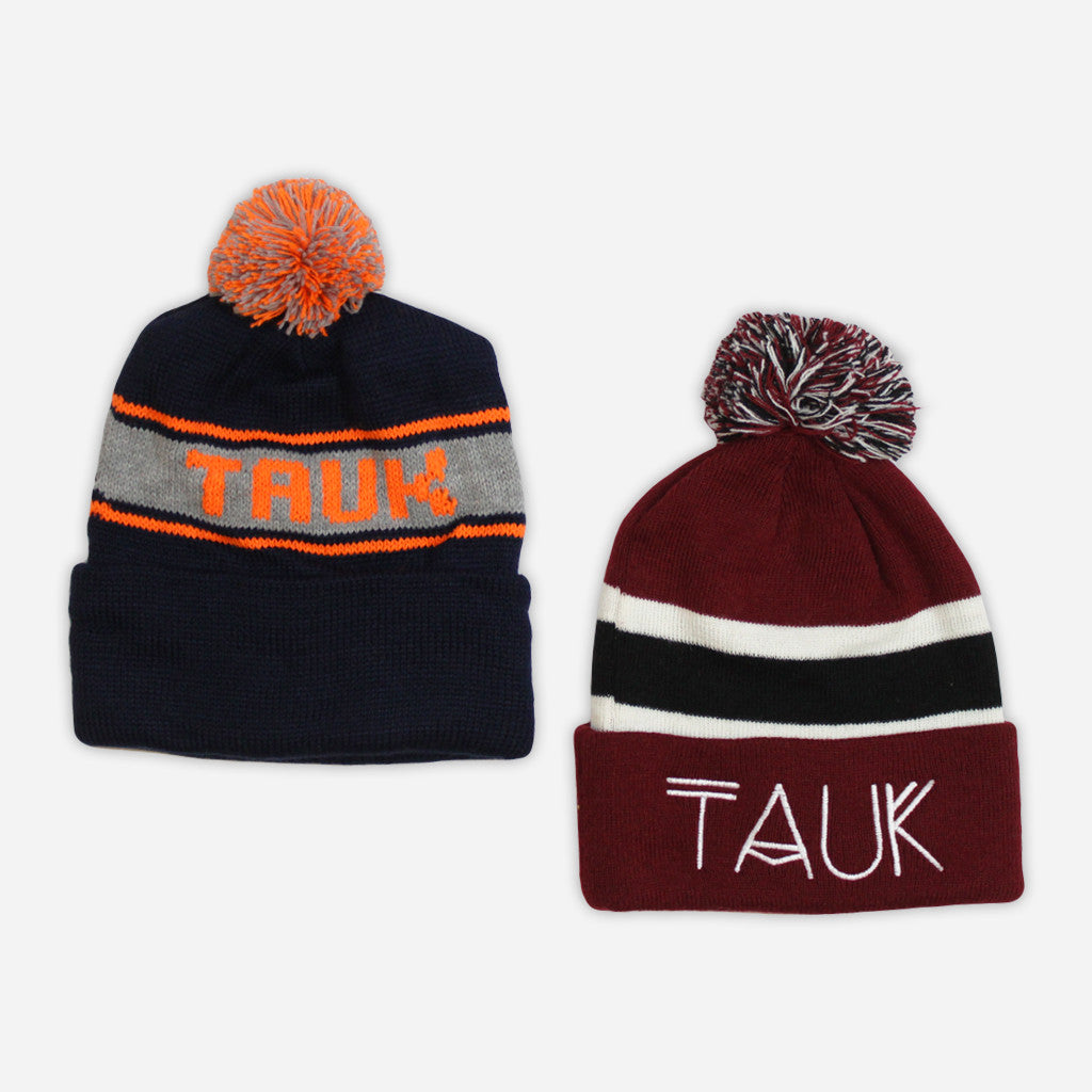 Logo Pom Beanies - TAUK - Hello Merch