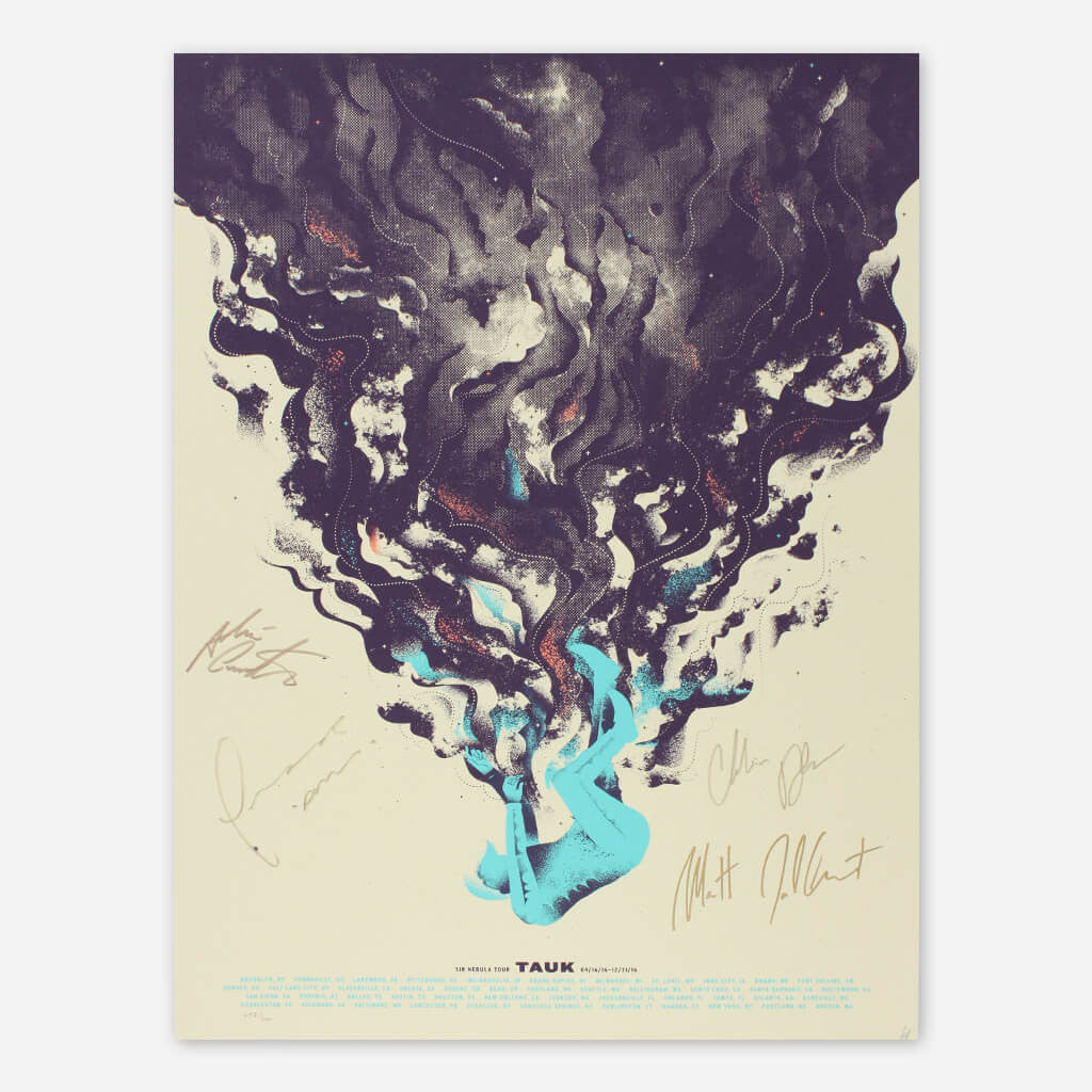 "Signed ""Falling Guy"" 2016 Fall Tour Poster"