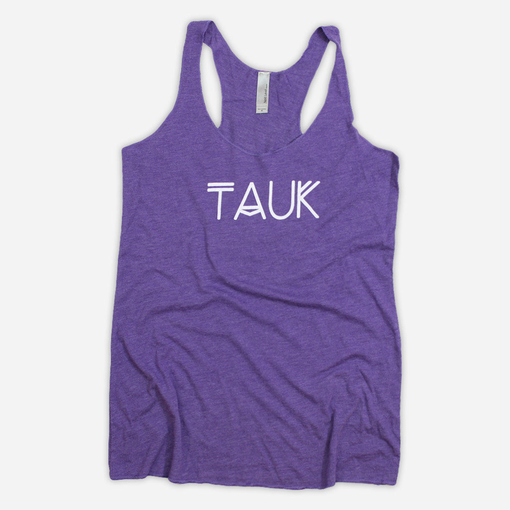 Logo Womens Purple Tri-Blend Tank Top