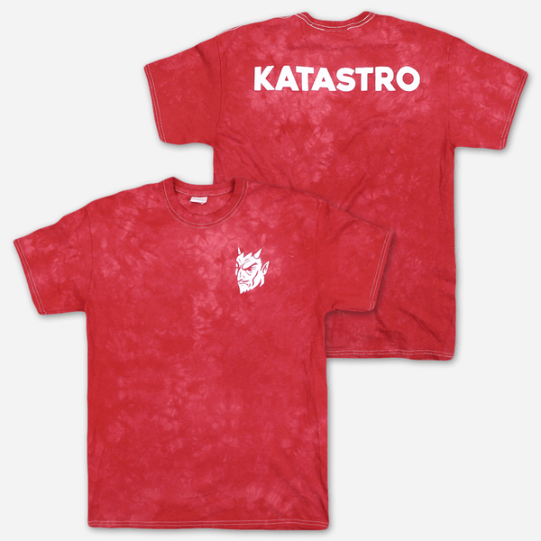 Devil Red Tie Dye T-Shirt by Katastro for sale on hellomerch.com