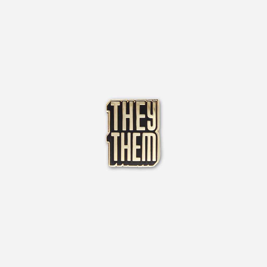 They/Them Pronoun Pin
