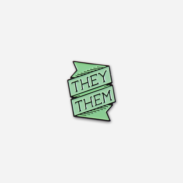 They/Them Pronoun Pin by Autostraddle for sale on hellomerch.com