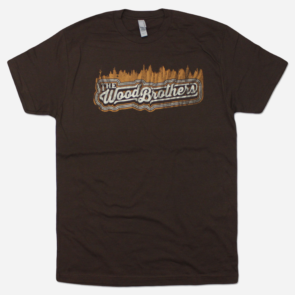 The Woods Brown T-Shirt - The Wood Brothers - Hello Merch