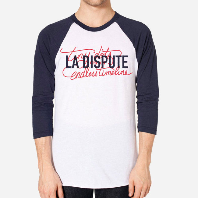 Tiny Dots Navy/White Baseball T-Shirt - La Dispute - Hello Merch