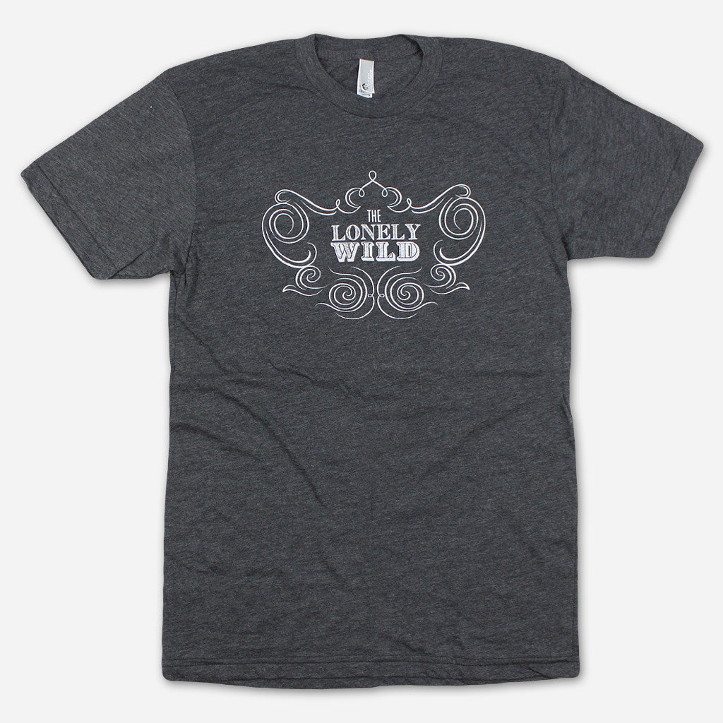 Classic Logo Heather Black T-Shirt - The Lonely Wild - Hello Merch