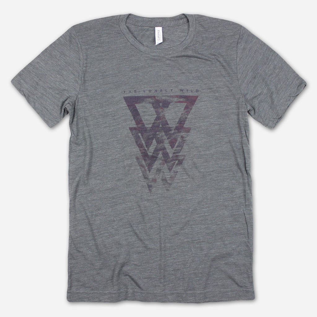 W Logo Dark Grey Tri-Blend - The Lonely Wild - Hello Merch
