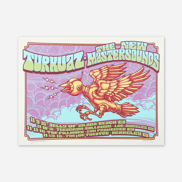Robot Bird California 2016 Poster by The New Mastersounds for sale on hellomerch.com