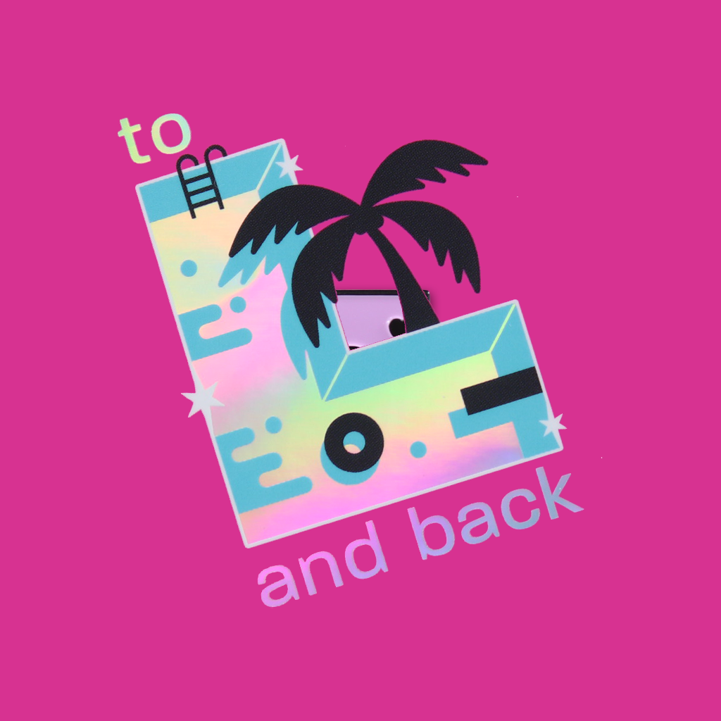 """To L and Back"" Holographic Sticker"