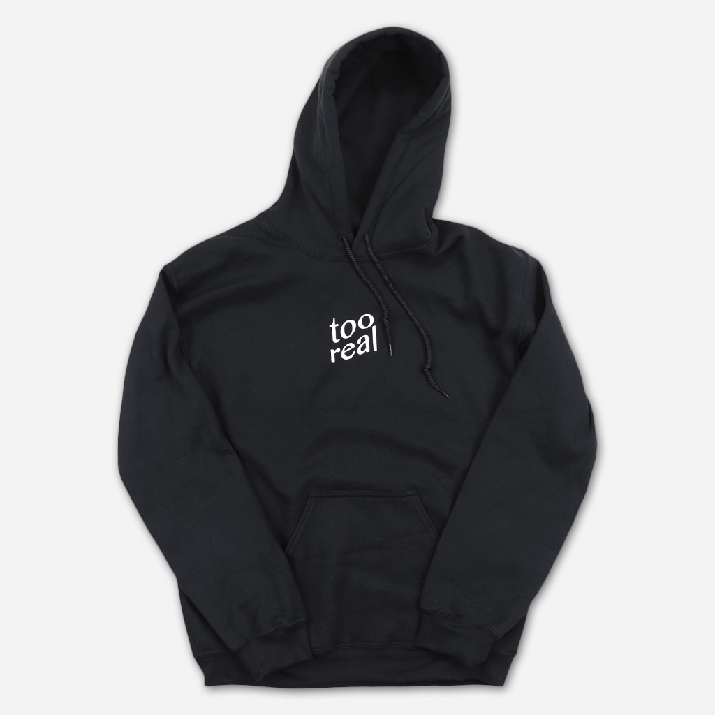 Too Real Black Pullover Hoodie - Giraffage - Hello Merch