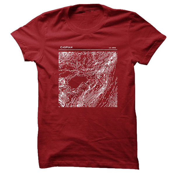Topography Cardinal T-Shirt by Caspian for sale on hellomerch.com