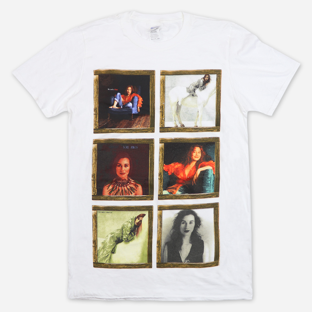 Wooden Framed Tori Amos Images White T-Shirt