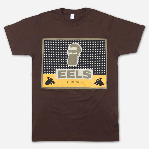 Cigar Band 2010 Tour Brown T-Shirt by Eels for sale on hellomerch.com
