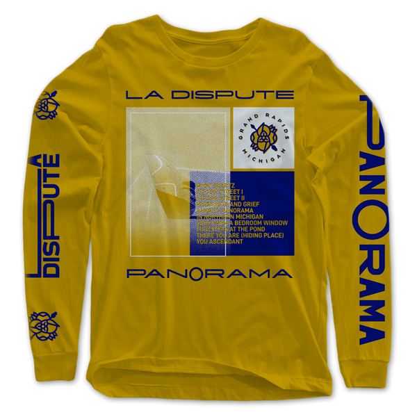 Tracklist Gold Long Sleeve T-Shirt by La Dispute for sale on hellomerch.com