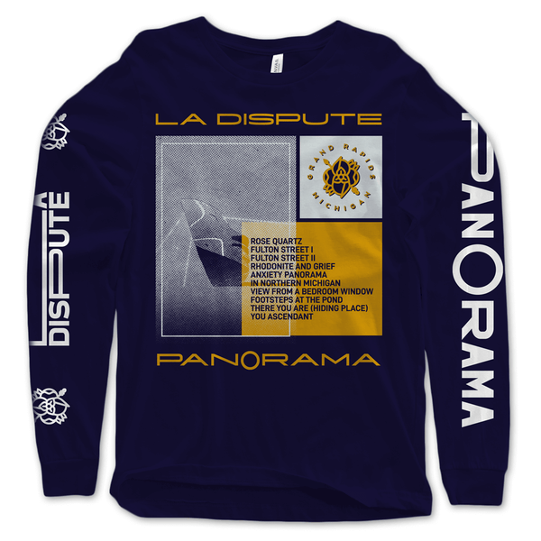 Tracklist Navy Long Sleeve T-Shirt by La Dispute for sale on hellomerch.com