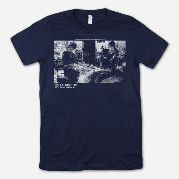 Traveling Navy T-Shirt by La Dispute for sale on hellomerch.com