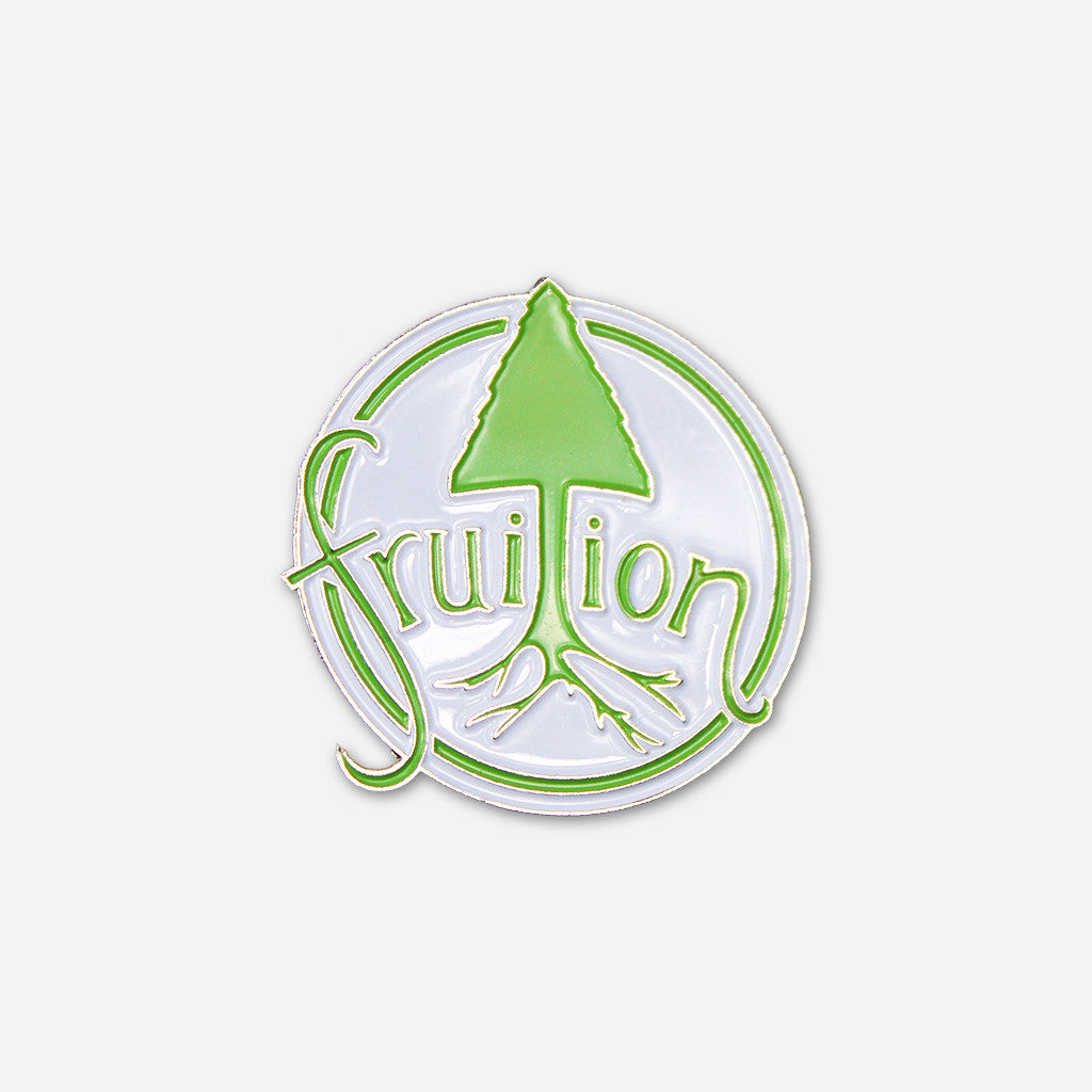 Tree Logo Hat Pin White w/Green & Nickel - Fruition - Hello Merch