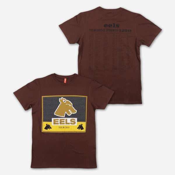 2011 Tour Brown T-Shirt by Eels for sale on hellomerch.com