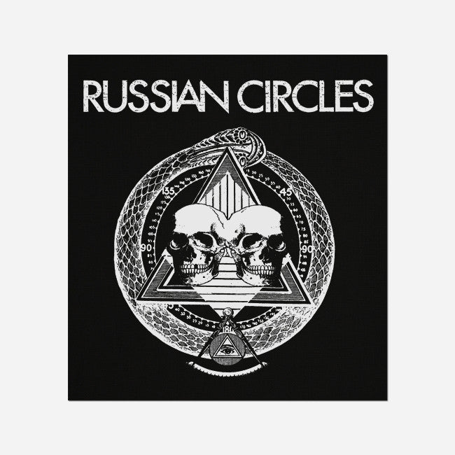 Pyramid Skulls Black Canvas Patch - Russian Circles - Hello Merch