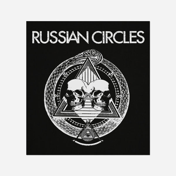 Pyramid Skulls Black Canvas Patch by Russian Circles for sale on hellomerch.com