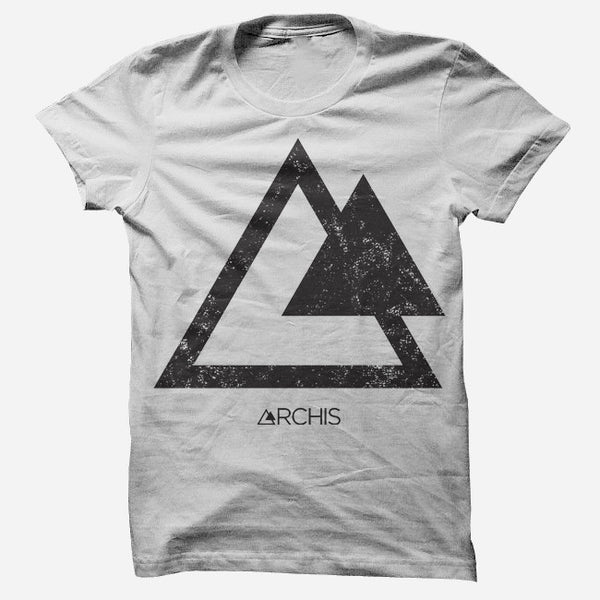 ARCHIS - Triangles White T-Shirt by Dia Frampton for sale on hellomerch.com