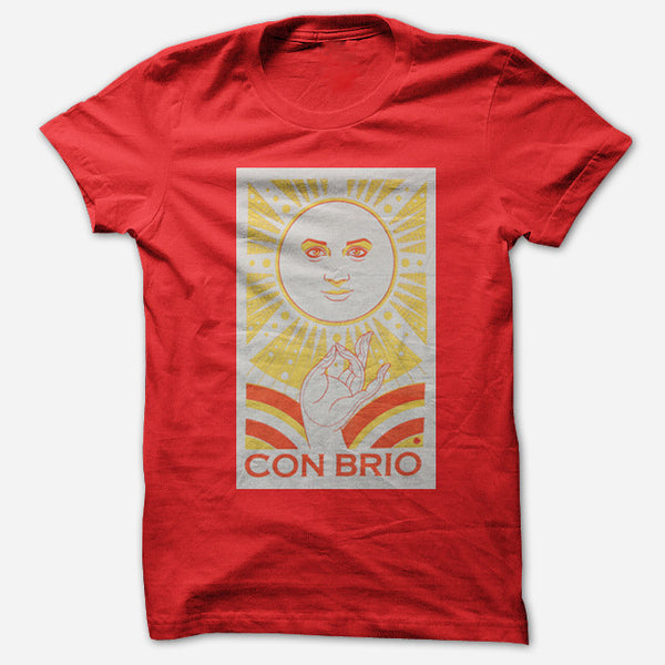 Sun Red T-Shirt by Con Brio for sale on hellomerch.com