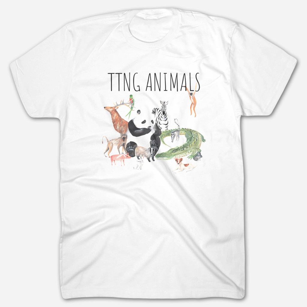 Original Animals Acoustic Cover White T-Shirt