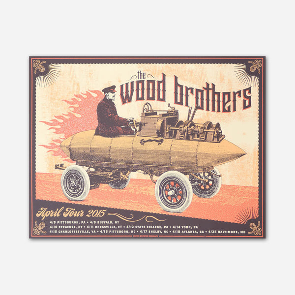April 2015 Tour Poster by The Wood Brothers for sale on hellomerch.com