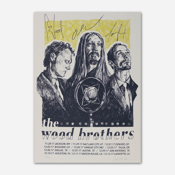2017 Fall Tour Poster by The Wood Brothers for sale on hellomerch.com
