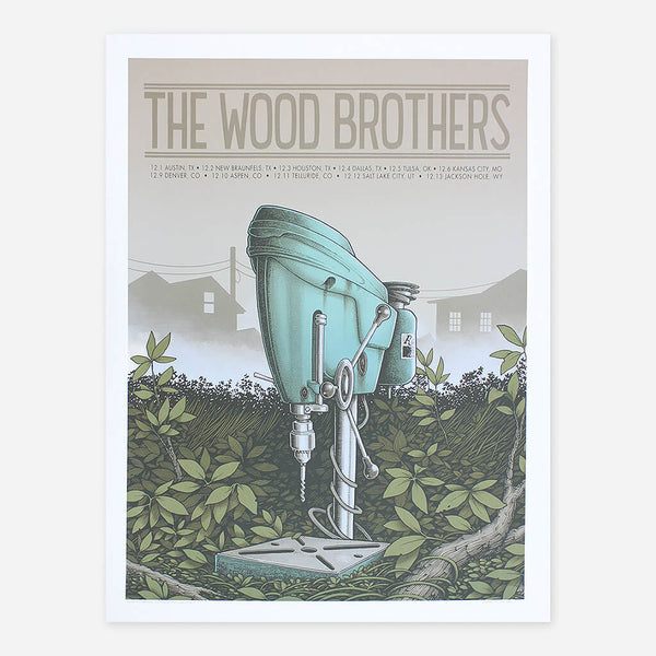 December 2016 Tour Poster by The Wood Brothers for sale on hellomerch.com