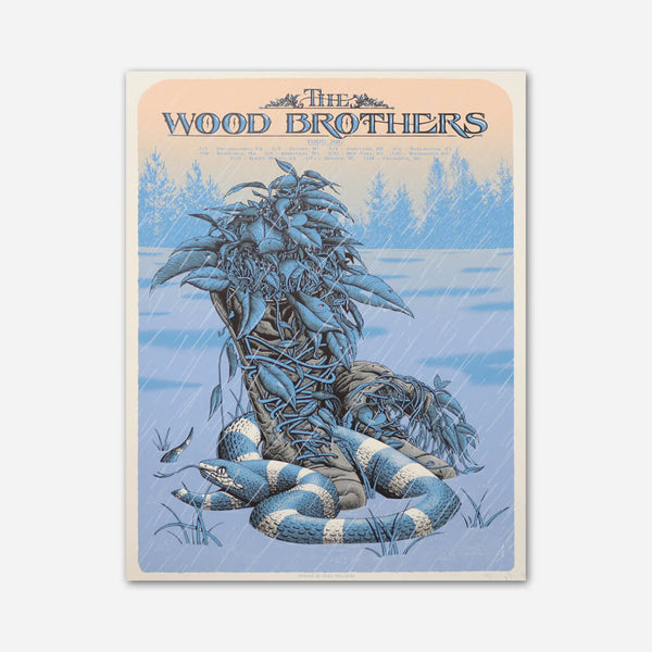 February 2017 Tour Poster by The Wood Brothers for sale on hellomerch.com