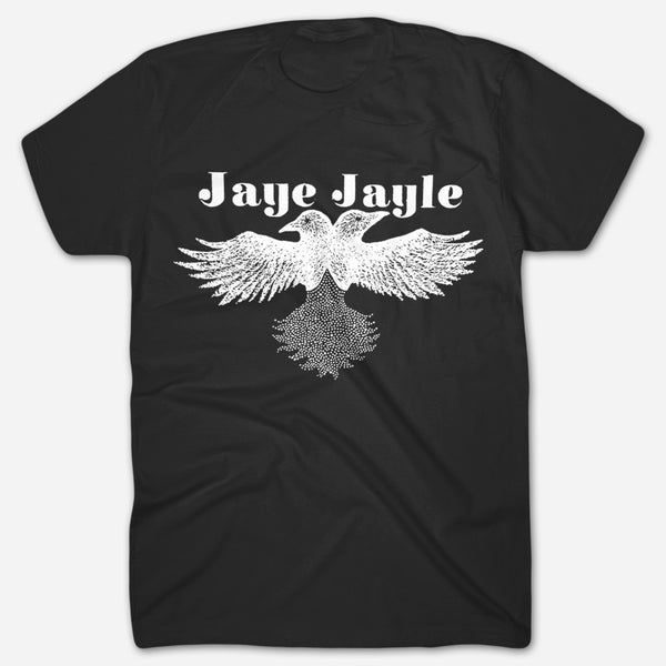 Two-Headed Crow Black T-Shirt by Jaye Jayle for sale on hellomerch.com