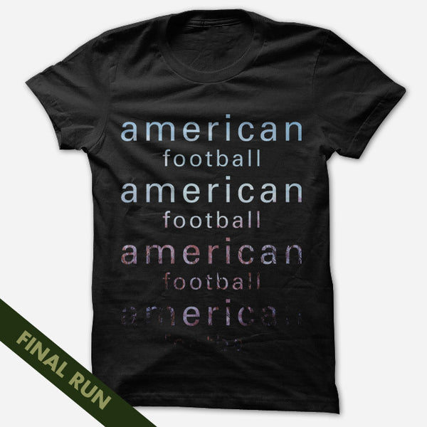 Type Black T-Shirt by American Football for sale on hellomerch.com