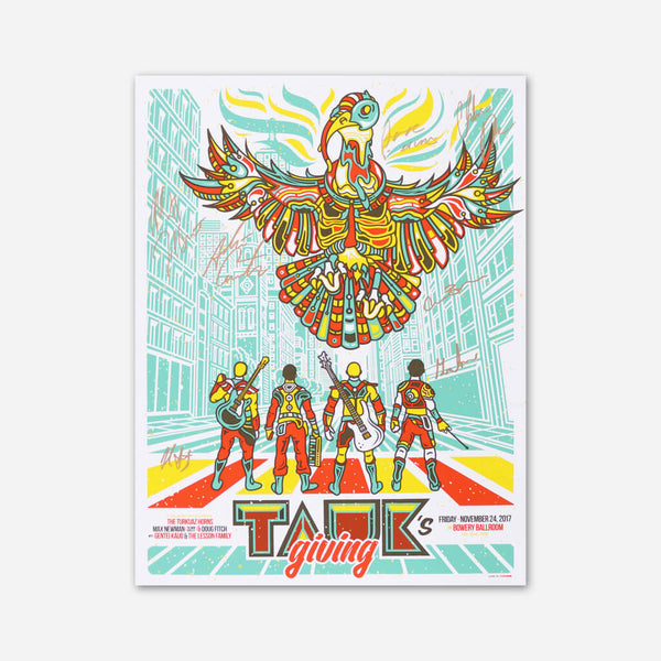 Oleg Heroes TAUKsgiving Signed Poster by TAUK for sale on hellomerch.com