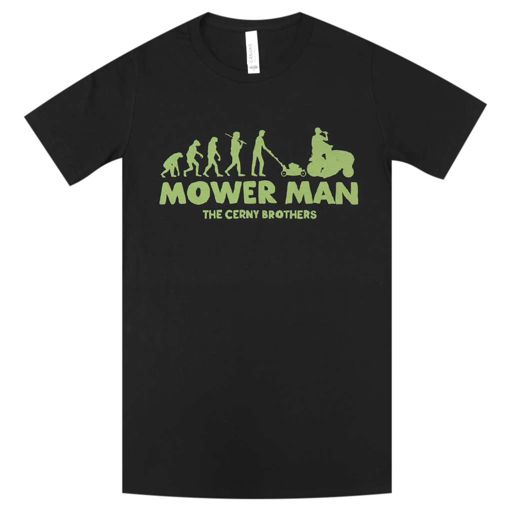 Mower Man Black T-Shirt