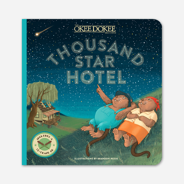 Thousand Star Hotel Picture Book & Compilation CD by The Okee Dokee Brothers for sale on hellomerch.com