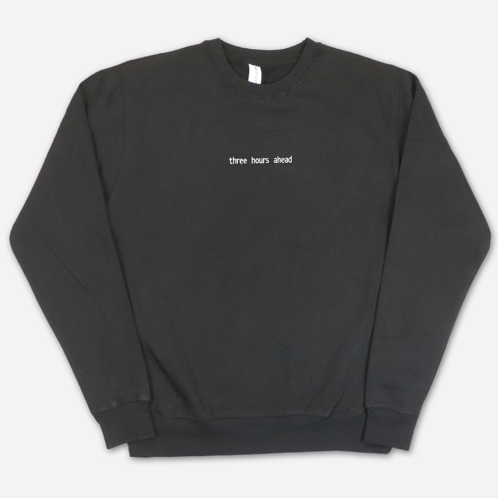 Three Hours Ahead Black Sweatshirt