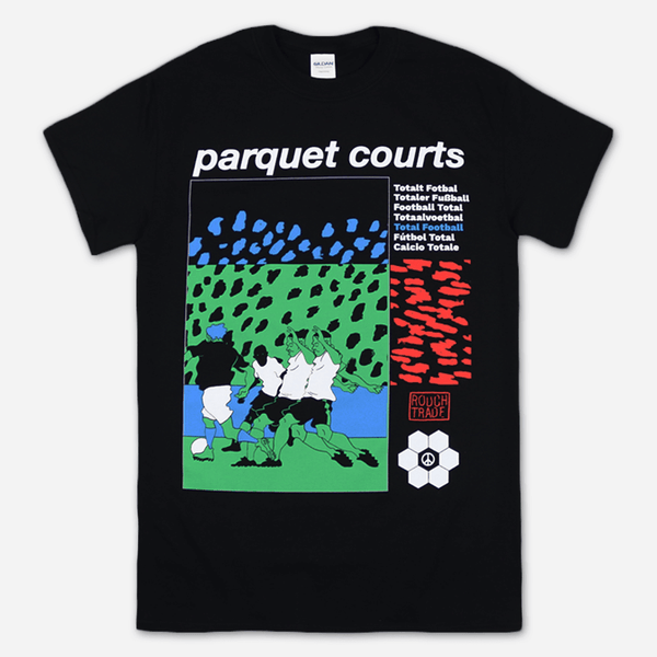 Total Football Black T-Shirt by Parquet Courts for sale on hellomerch.com